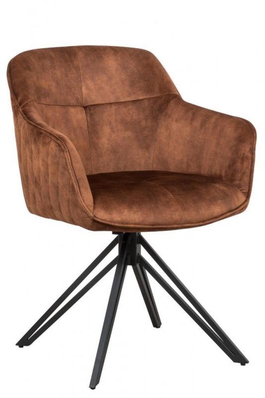 Jídelní židle Torup - hnědá, samet / 40262