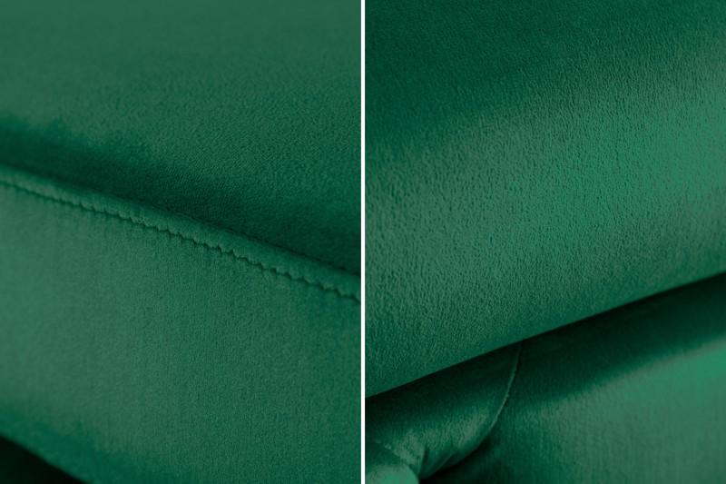 Taburet Caravaggio 90cm x 63cm - smaragdová, samet / 39611