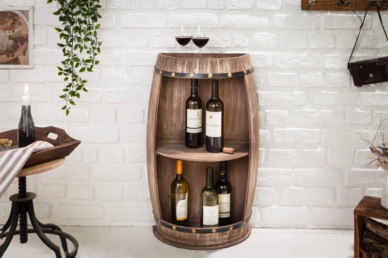 Regál na víno Tiago 50cm x 79cm - přírodní / 40074