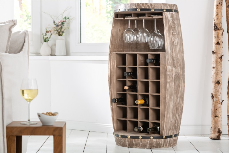 Regál na víno Tiago 51cm x 97cm - přírodní / 40415