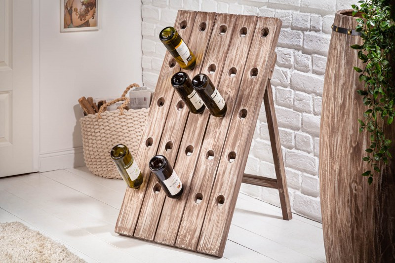 Stojan na víno Mabel 50cm x 88cm - přírodní jedle / 40416