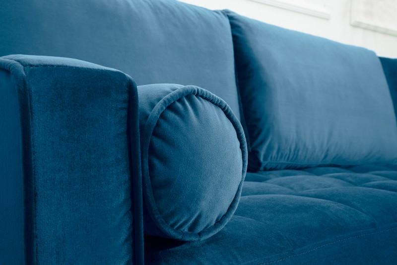 Pohovka Sheilla Corner 260cm - modrá, samet / 39847