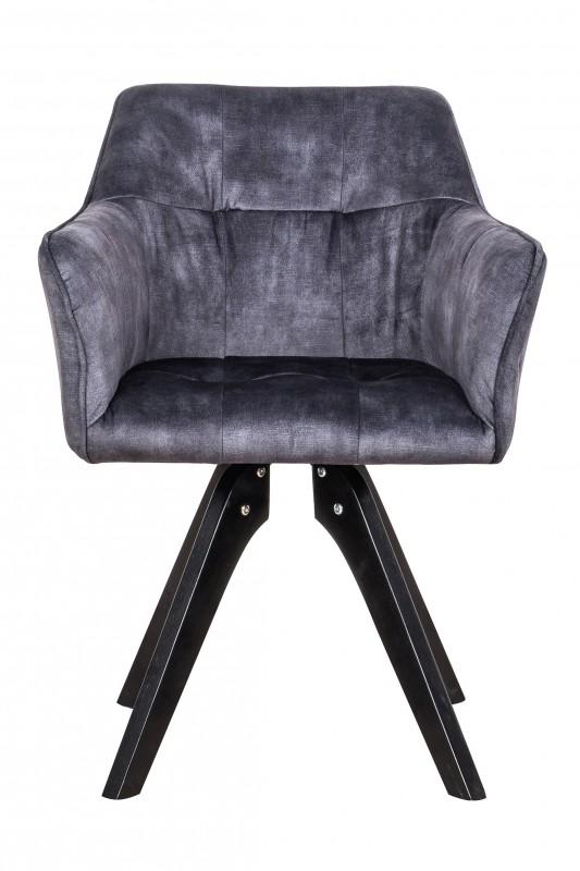 Jídelní židle Delphi - tmavě šedá, samet / 40254