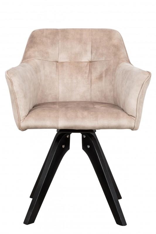 Jídelní židle Delphi - taupe béžová, samet / 40255