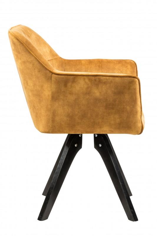 Jídelní židle Delphi - žlutá, samet / 40256
