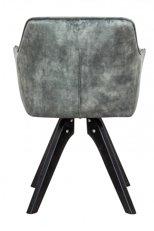Jídelní židle Delphi - stříbrno-šedá, samet  / 40257