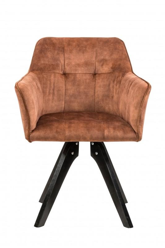 Jídelní židle Delphi - hnědá, samet / 40258