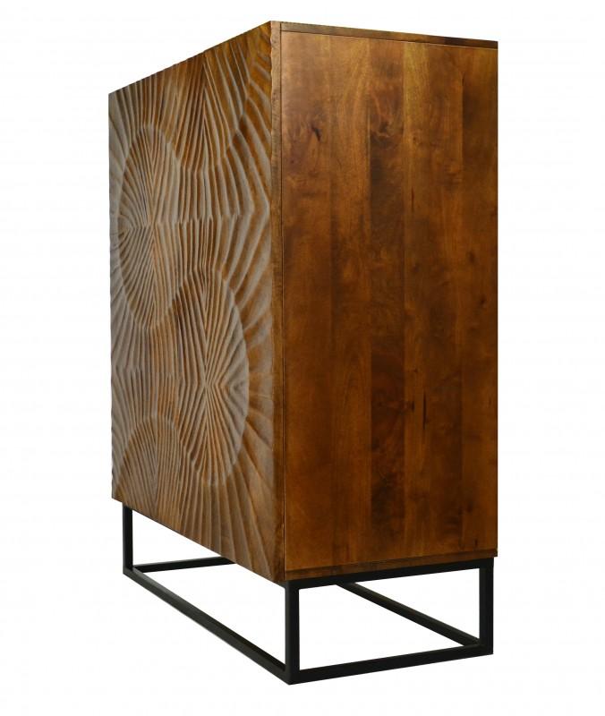 Skříň Lima 100cm x 120cm - přírodní mango / 40183