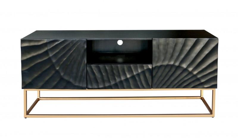 Televizní stolek Lima 160cm x 65cm - černé mango / 40253