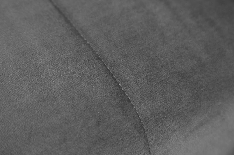 Pohovka Hewitt 180cm - šedá, samet / 40028