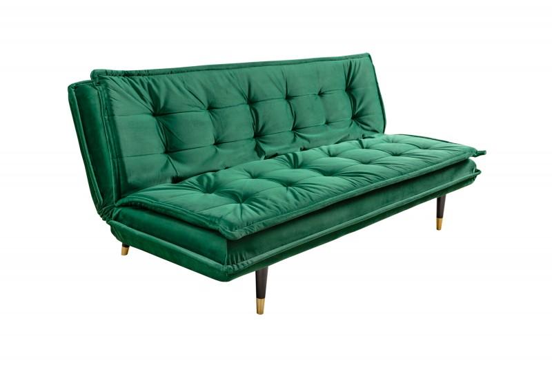 Pohovka Kelly 184cm - smaragdově zelená, samet / 40029