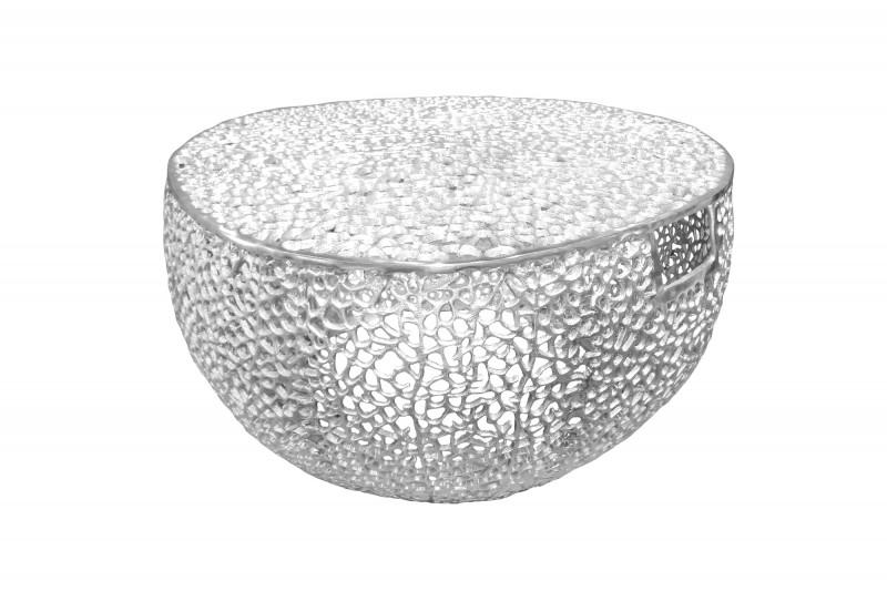 Konferenční stolek Collin 80cm x 80cm  - stříbrný / 40601