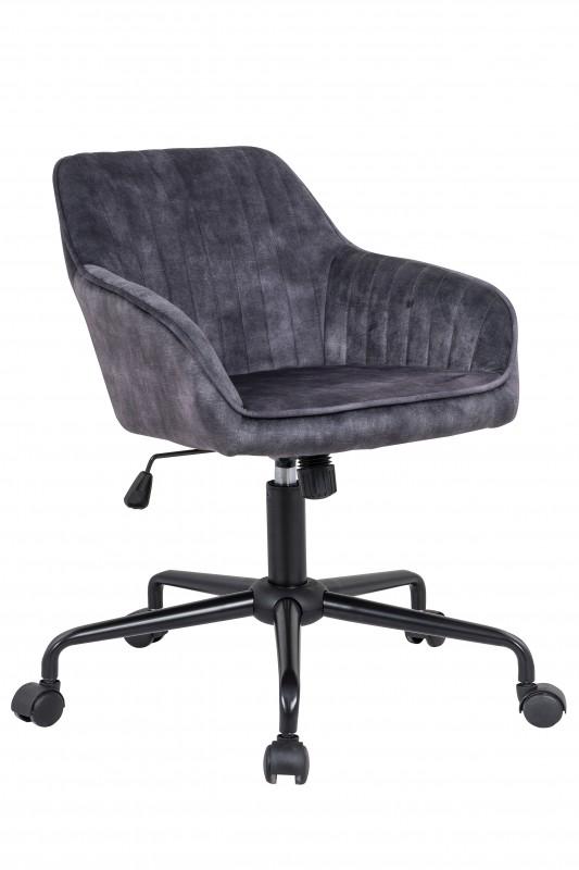 Kancelářská židle Turín šedá - samet / 40305