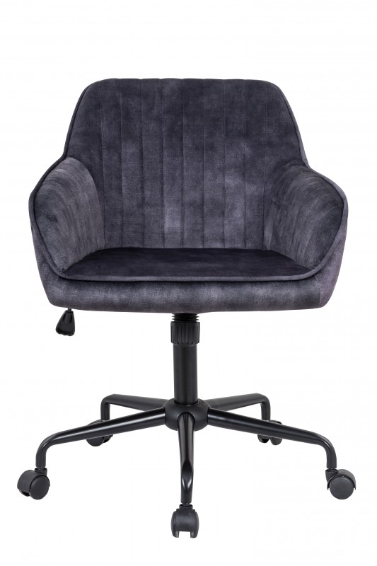 Kancelářská židle Loreta - šedá, samet / 40305