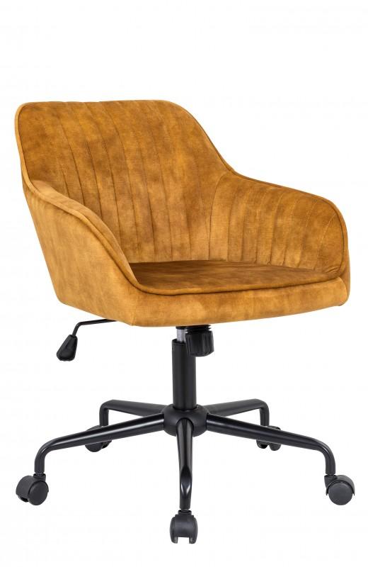 Kancelářská židle Turín žlutá - samet / 40306
