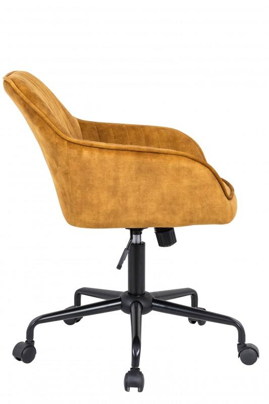 Kancelářská židle Loreta - žlutá, samet / 40306