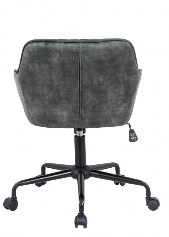 Kancelářská židle Loreta - šedo-zelená, samet / 40307