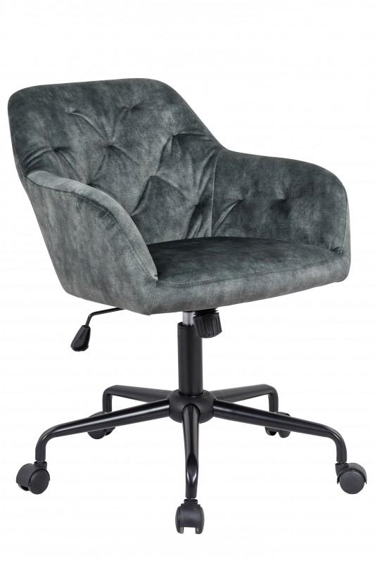 Kancelářská židle Dutch Comfort šedá, samet / 40304