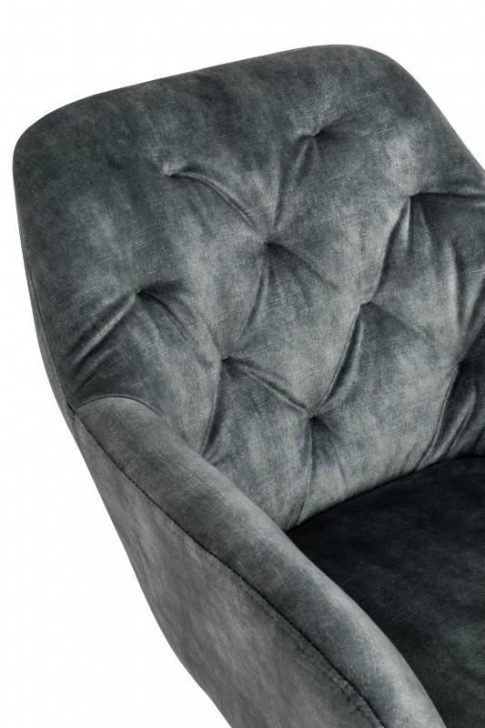 Kancelářská židle Monica - šedo-zelená, samet / 40304