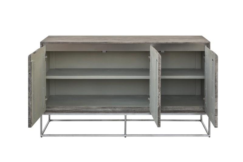 Příborník Lowell 147cm x 83cm - šedý akát / 40140