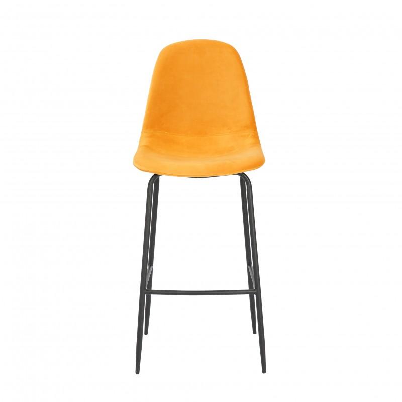 Barová židle Scandinavia hořčice žlutý samet / 40128