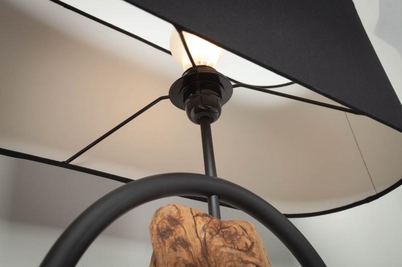 Stojací lampa Elements 147cm - černá, akát / 40398