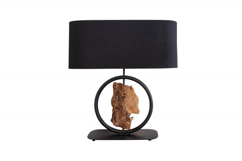 Stolní lampa Graciela 58cm - černá, akát / 40399