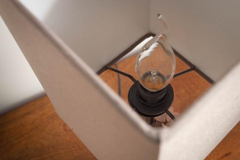 Stolní lampa Pure Nature 45cm hnědé železné dřevo / 40402