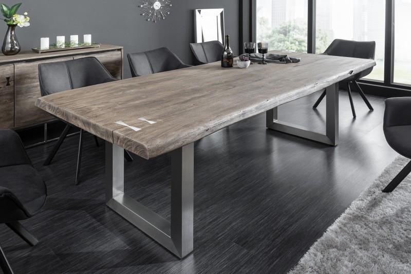 Jídelní stůl Accra Artwork 240cm x 100cm - akát, šedý / 40142