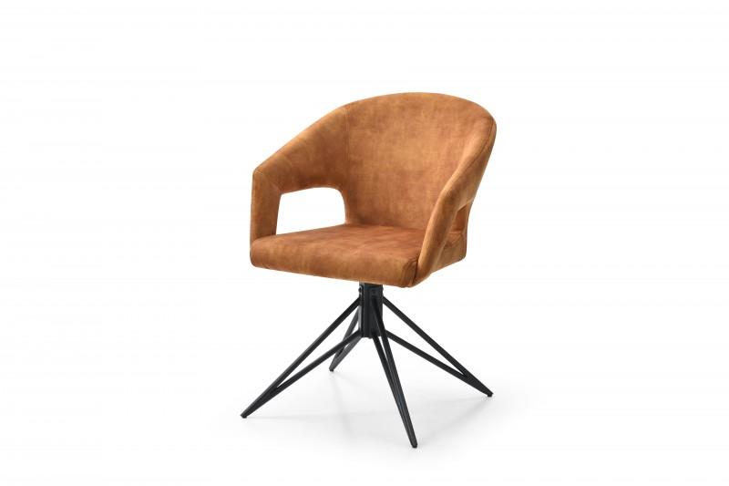 Jídelní židle Lindsay - hořčičně žlutá, samet / 40497