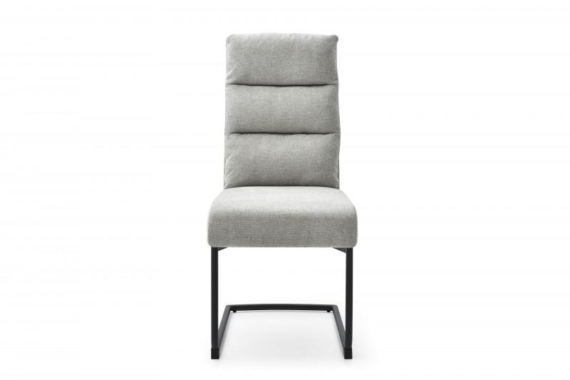 Konferenční židle Comfort texturovaná látka světle šedá / 40462