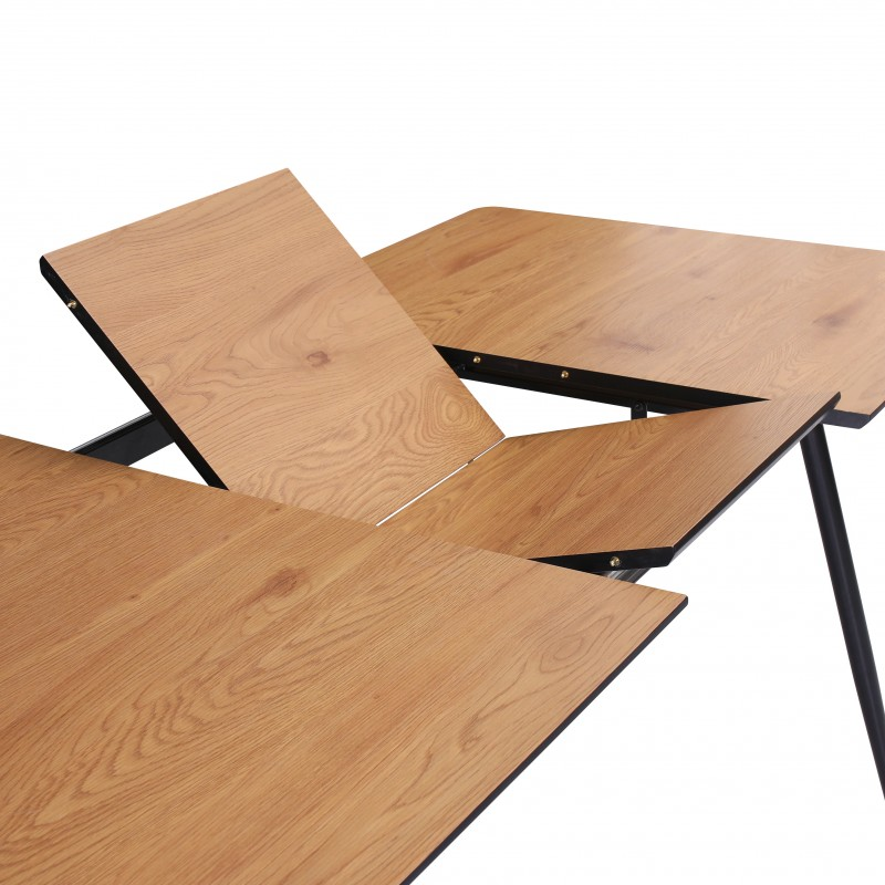 Jídelní stůl Erna 120-160cm x 80cm - dub / 40475