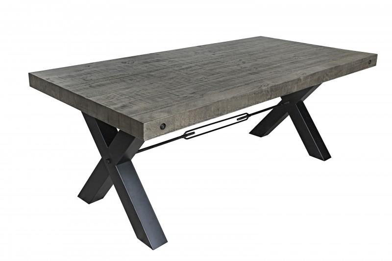 Jídelní stůl Norman 200cm x 76cm - borovice, šedá / 40442