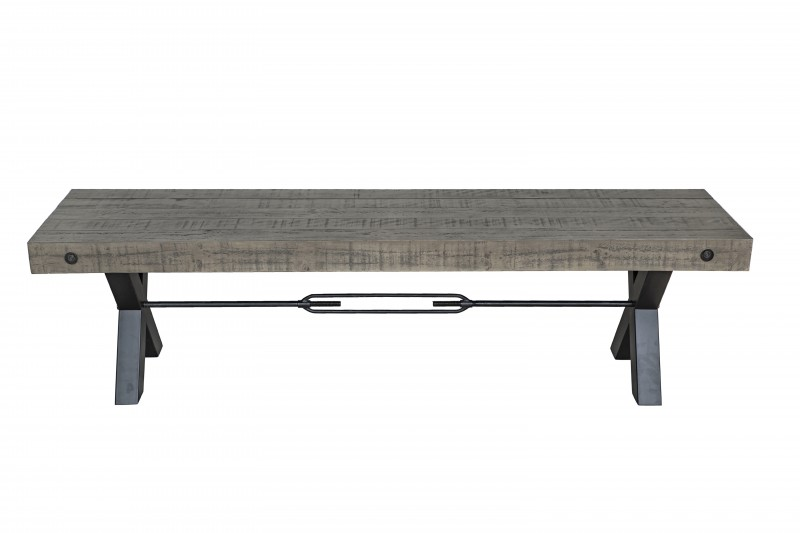 Sitzbank Thor 170cm Pinienholz grau/ 40444