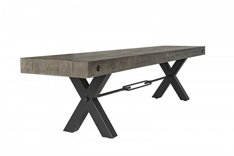 Lavice Norman 200cm x 40cm - borovice, šedá / 40445