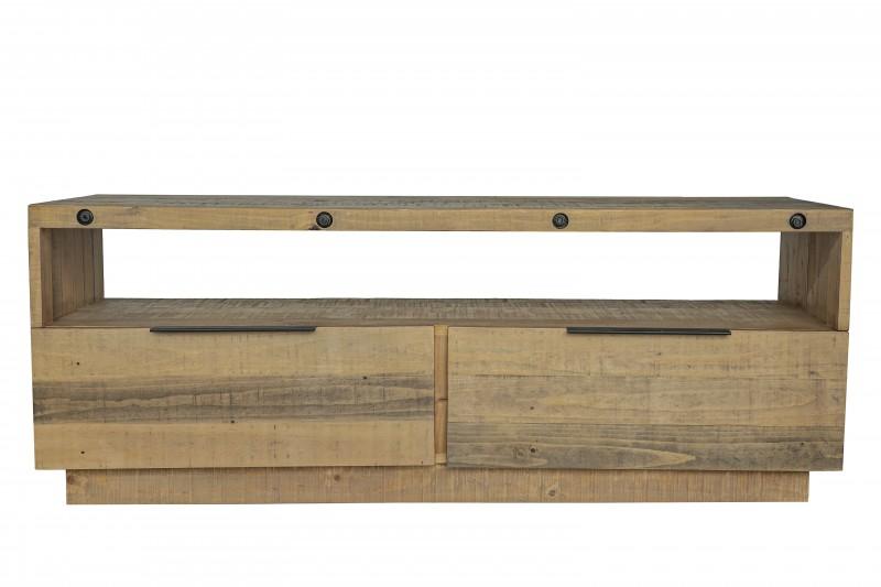 Televizní stolek Bekasi 150cm x 57cm - borovice, přírodní / 40456
