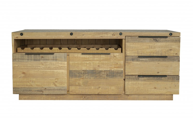 Příborník Bekasi 175cm x 75cm  - přírodní borovice / 40457