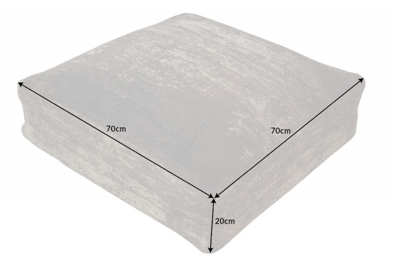 Podlahový polštář moderní umění 70cm hnědý / 40241