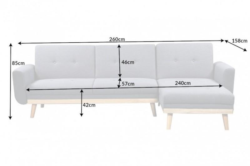 Pohovka Skagen 260cm - antracit / 40434
