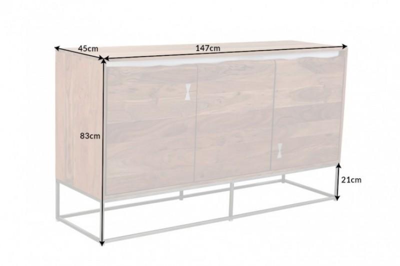 Příborník Lowell 147cm x 83cm - přírodní akát / 40143