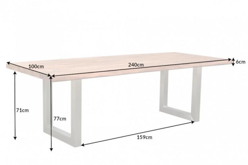 Jídelní stůl Accra Artwork 240cm x 100cm - přírodní akácie / 40145