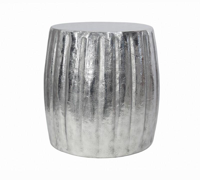 Konferenční stolek Agadir 42cm - hliník, stříbrný / 40221