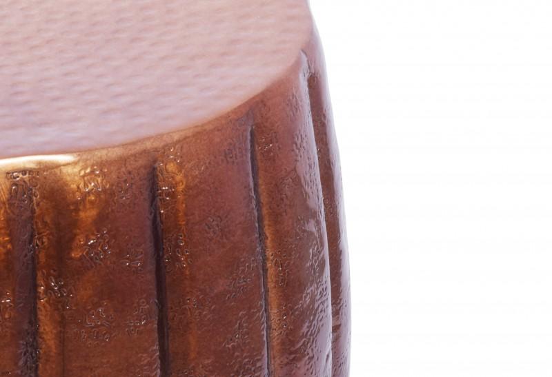 Konferenční stolek Agadir 42cm - hliník, měděný / 40222
