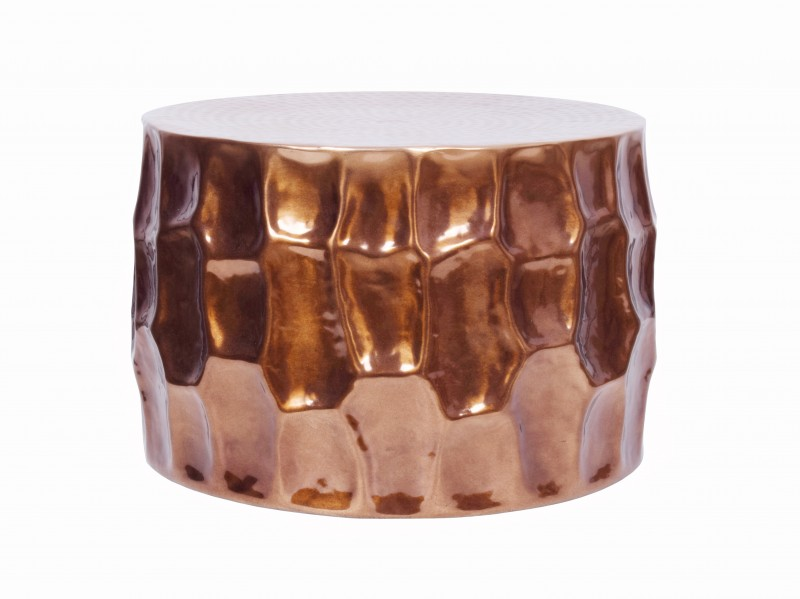 Konferenční stolek El Jadida 55cm - hliník, měděný / 40226