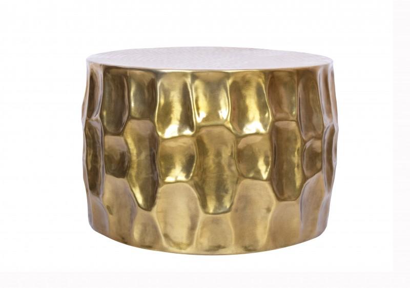 Konferenční stolek El Jadida 55cm - hliník, zlatý / 40227