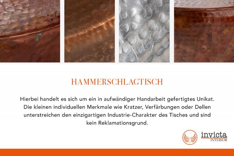 Konferenční stolek El Jadida 70cm - hliník, měděný / 40224