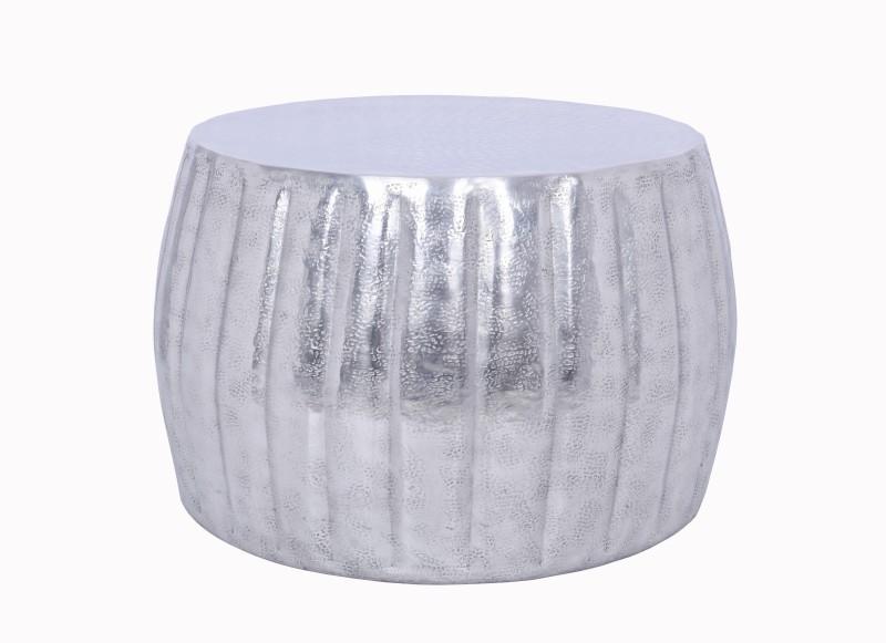 Konferenční stolek Agadir 55cm - hliník, stříbrný / 40218
