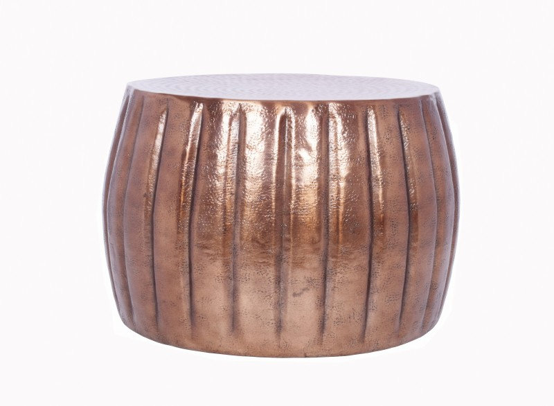 Konferenční stolek Agadir 55cm - hliník, měděný  / 40219
