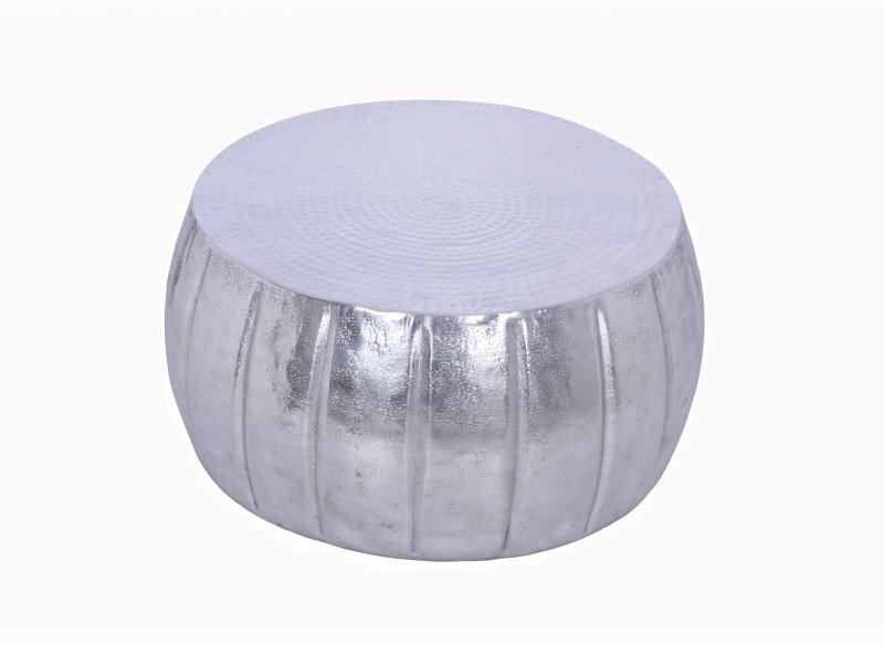 Konferenční stolek Agadir 65cm - hliník, stříbrný / 40215