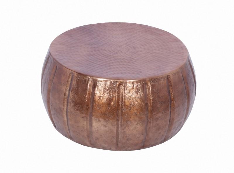 Konferenční stolek Agadir 65cm - hliník, měděný / 40216